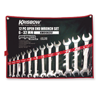 Open End Wrench Set 6-22 Mm 8 Pcs Krisbow 320Lx80wx80h Mm