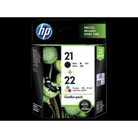 Tinta HP Original Ink Cartridge 21/22 Combo Pack - CC630AA - Hitam & Tri-color