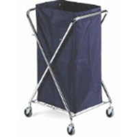 Chrome X-Cart For Laundry with bag 150 Lt