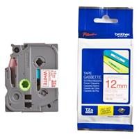 Pita Printer Brother Label Tape TZe-232 - 12 mm - Red on White