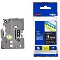 Pita Printer Brother Label Tape TZe-315 - 6 mm - White on Black