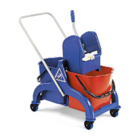 FRED double bucket PLASTIC trolley with wringer