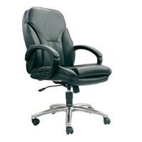 Kursi Kantor Chairman Premier Collection PC 9630 - Leather - Kaki Aluminium - Hitam - Inden 14-30 Hari