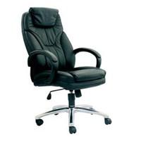 Chairman Premier Collection Kursi Kantor PC 9610 - Leather - Kaki Nylon - Hitam - Inden 14-30 Hari