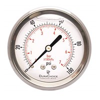 Pressure Gauge 0-20 Bar screw 1/2