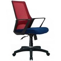 Donati Kursi Kantor Cortez 1 N - Oscar/Fabric - Biru/Merah