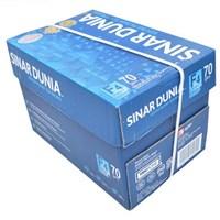 Kertas HVS Sinar Dunia F4 70 gram - 1 Box isi 5 Rim