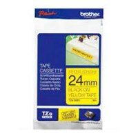 Pita Printer Brother Label Tape TZE-S651  - 24 mm - Strong Adhessive Black on Yellow