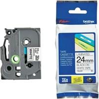 Pita Printer Brother Label Tape TZE-251 - 24 mm - Black on White
