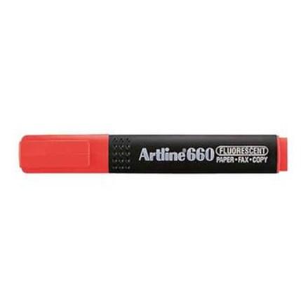 Stabilo Artline EK-660 - Tinta Fluoro Red - 1 Karton Isi 4 Pak @ 12 Pcs