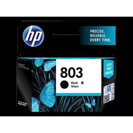 Tinta Printer HP Ink Cartridge F6V21AA 803- Regular- Hitam