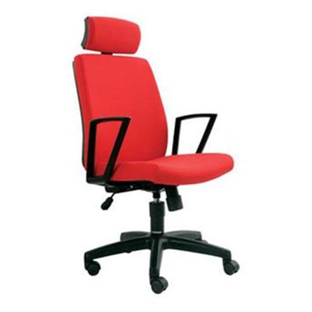 Kursi Kantor Chairman Modern Chair MC 1801 A - Merah - Inden 14-30 Hari