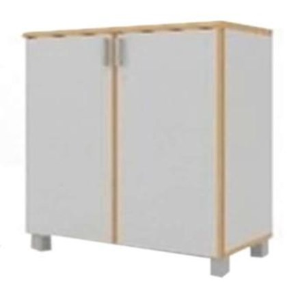 Lemari Kabinet HighPoint Storage with Cabinet Base STBZ00-00-7991-59 - 79 x 38.5 x 91.5 - Oxford Cherry - Inden 14 Hari Kerja
