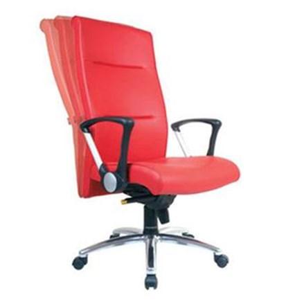 Kursi Kantor Chairman Executive Chair EC 10 A - Oscar / Fabric - Kaki Aluminium - Merah - Inden 14-30 Hari