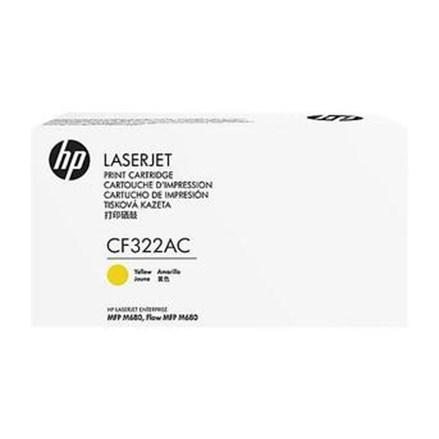 Toner Printer Cartridge HP Original Contract LaserJet 653A - CF322AC - Kuning