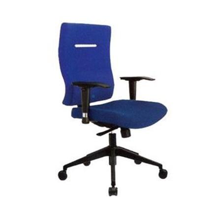 Donati Kursi Kantor Clouse 3 N - Oscar/Fabric - Biru