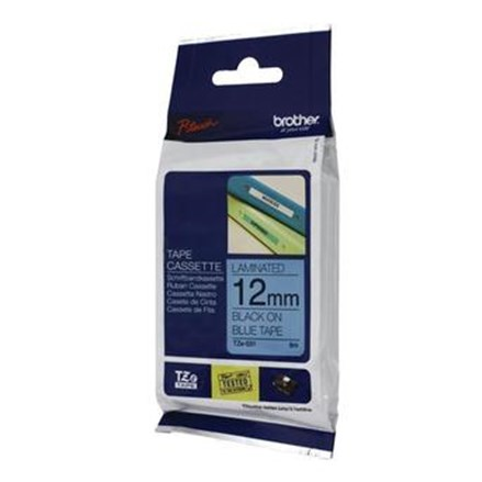 Pita Printer Brother Label Tape TZE-531 - Black on Blue
