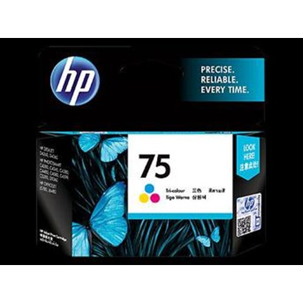 Tinta Printer HP Original Ink Cartridge 75 - CB337WA - Tri-color