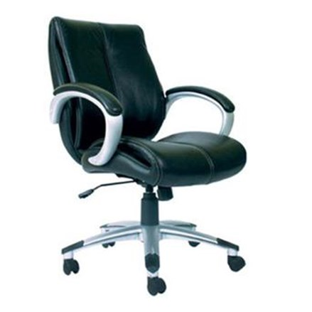 Chairman Premier Collection Kursi Kantor PC 9330 A - Leather - Kaki Aluminium - Hitam - Inden 14-30 Hari
