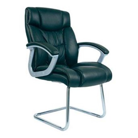 Chairman Premier Collection Kursi Kantor PC 9450 A - Leather - Kaki Chrome - Hitam - Inden 14-30 Hari