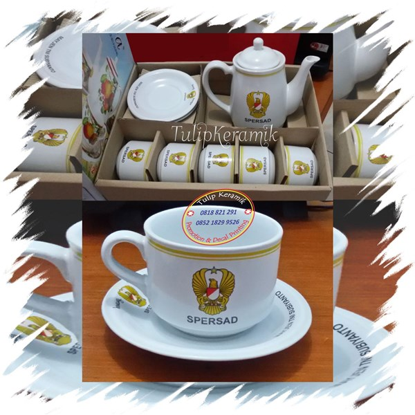Cofee set promotion. Teapot and Cup set