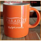 Red ceramic mug 9
