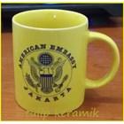 Red ceramic mug 6