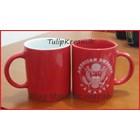 Red ceramic mug 7