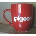 Red ceramic mug 10