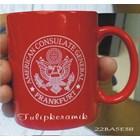Red ceramic mug 8