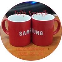Jual Mug keramik merah