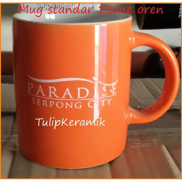 Mug keramik merah