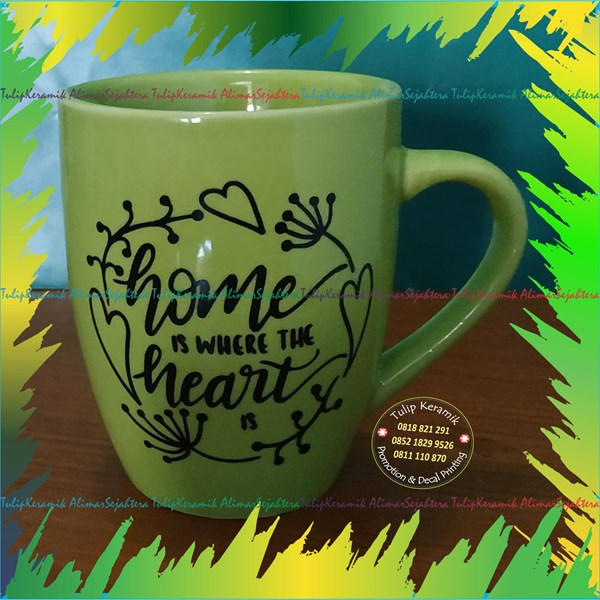 Mug keramik corel warnawarni
