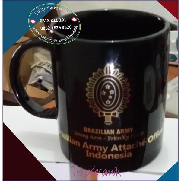 Mug Keramik Promosi Hitam