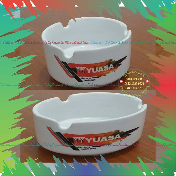 Asbak keramik logo