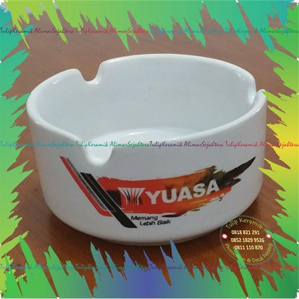 Asbak keramik warna