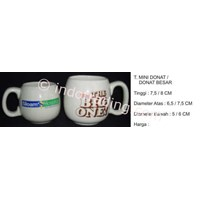 Jual Mug Promosi Keramik Donat