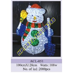 Lampu Hias Natal 3D Tipe ACL-051