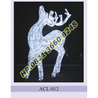Lampu Hias Natal 3D Tipe ACL-012 1