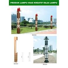Tiang Lampu Taman Kreatif 3