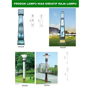 Tiang Lampu Taman Kreatif 5