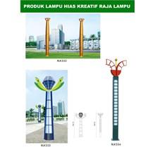 Tiang Lampu Taman Kreatif 8