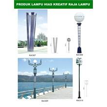 Tiang Lampu Taman Kreatif 12