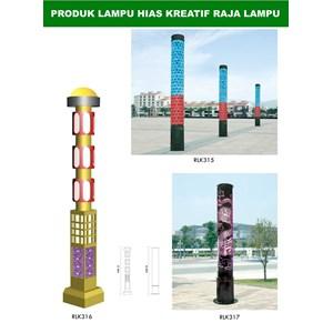Tiang Lampu Taman Kreatif 14