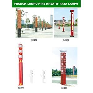 Tiang Lampu Taman Kreatif 17