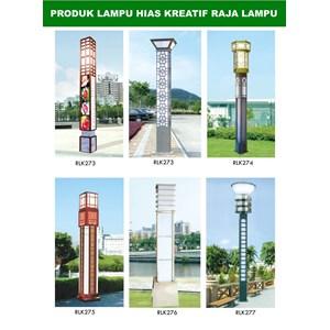 Tiang Lampu Taman Kreatif 22