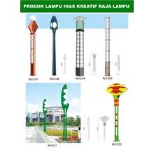 Tiang Lampu Taman Kreatif 26