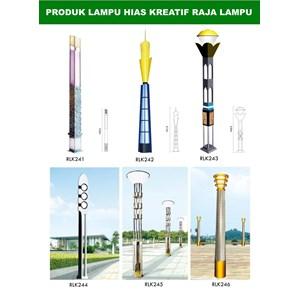 Tiang Lampu Taman Kreatif 35