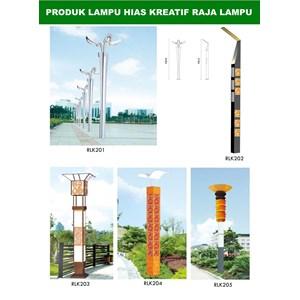 Tiang Lampu Taman Kreatif 36