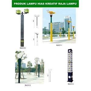 Tiang Lampu Taman Kreatif 38